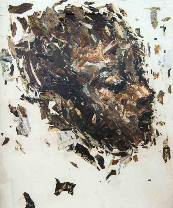 Benon Lutaaya - Mindful Mixed Media on Canvas 140x118cm FRAMED