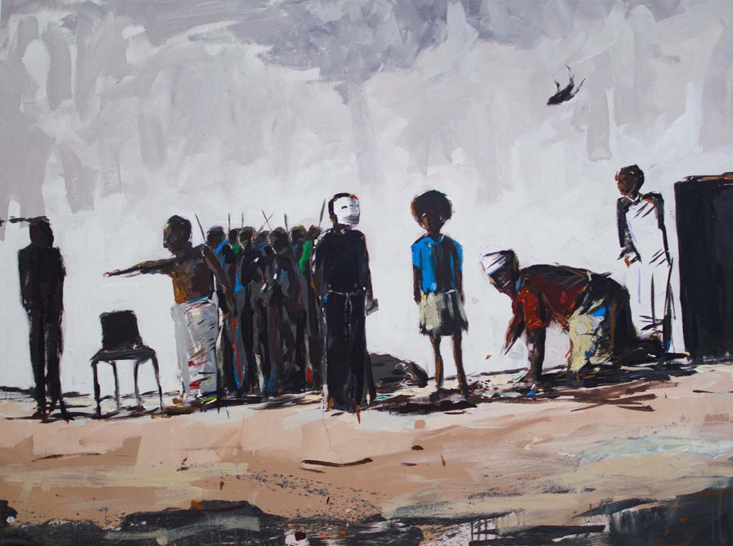 Asanda Kupa Ntunjambini 2016 Acrylic on canvas 140 x 105.5 cm