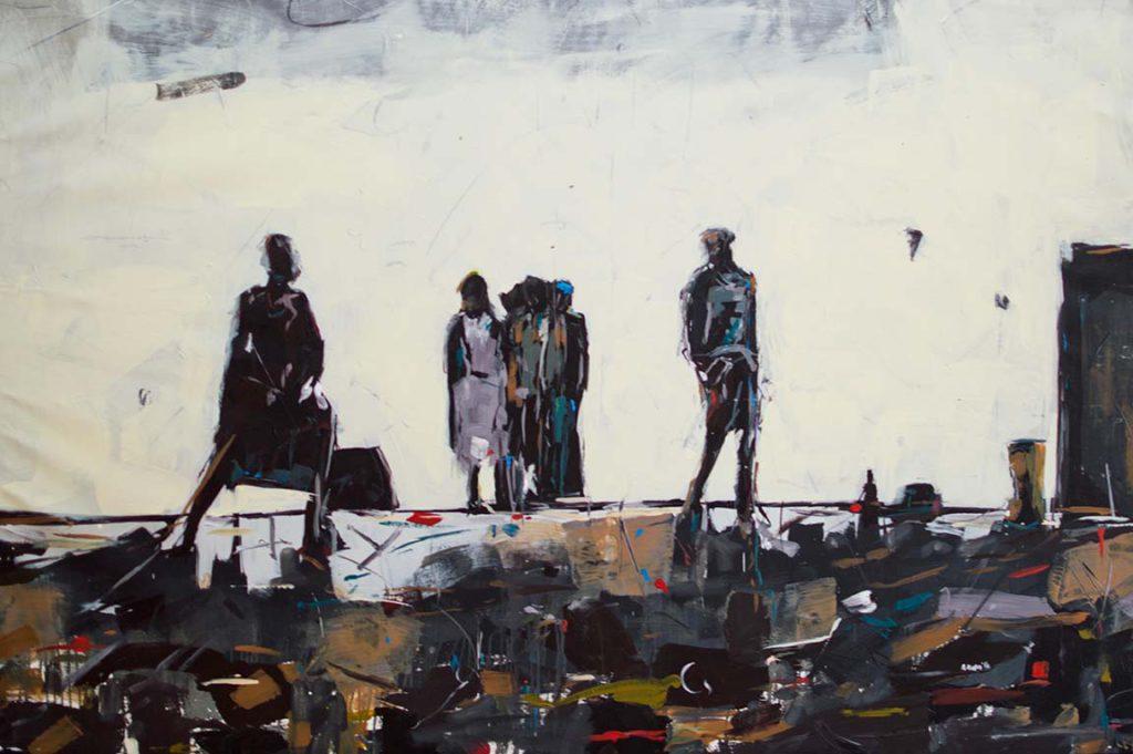 Asanda Kupa Thoban' amaxhala 2016 Acrylic on canvas 205 x 140 cm