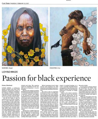 Cape Times Article: Loyiso Mkize