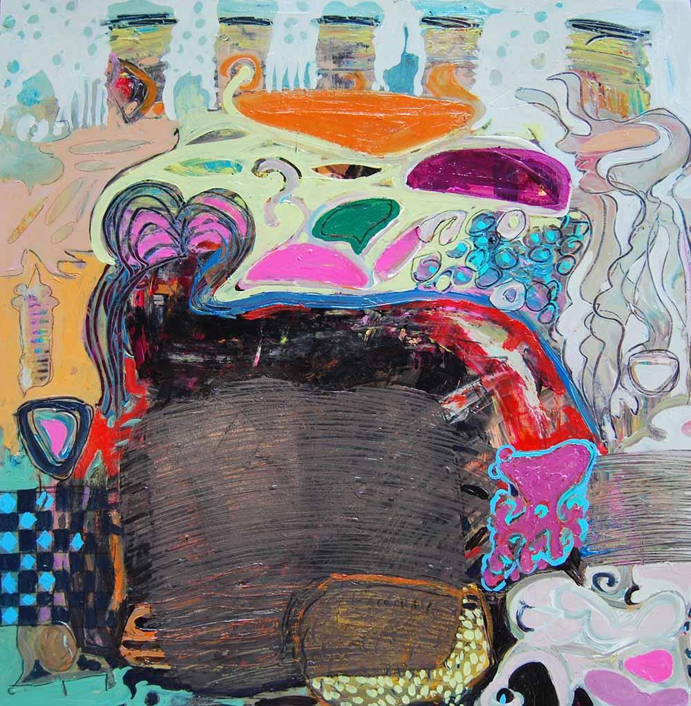 Hussein Salim - Untitled 2, 72 x 72cm