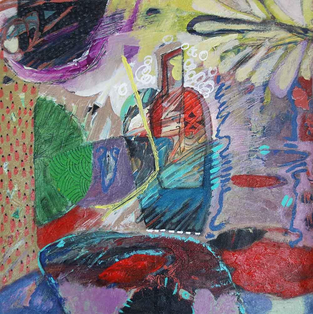 Hussein Salim - Untitled 3, 40 x 40cm