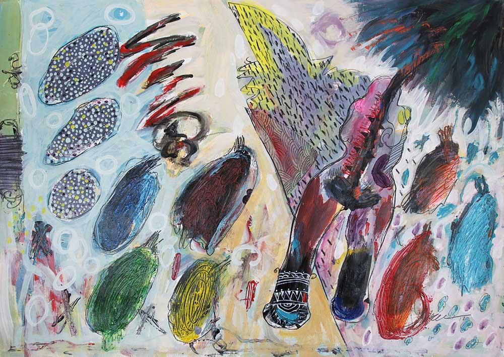 Hussein Salim - Untitled 4, 86 x 61cm