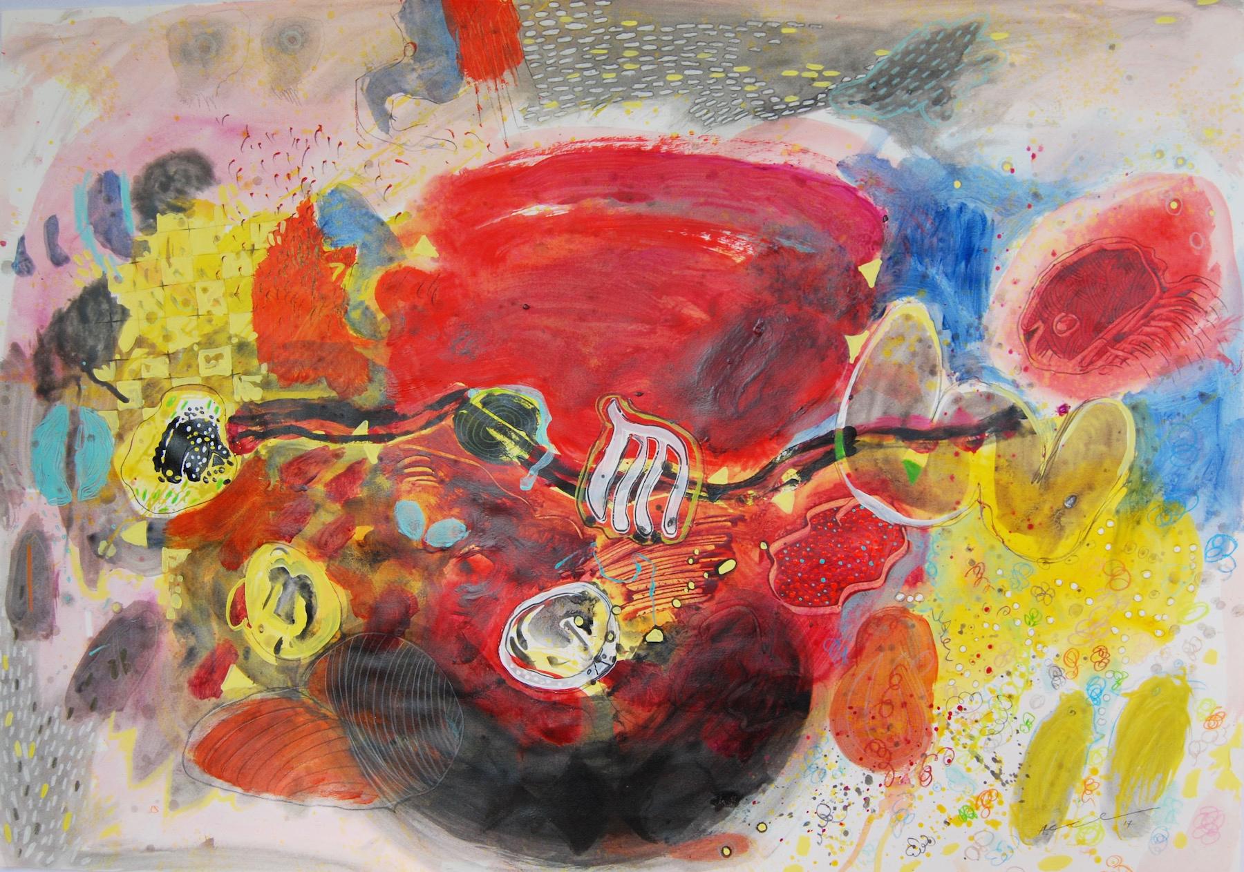 Hussein Salim - Untitled, 70 x 100cm