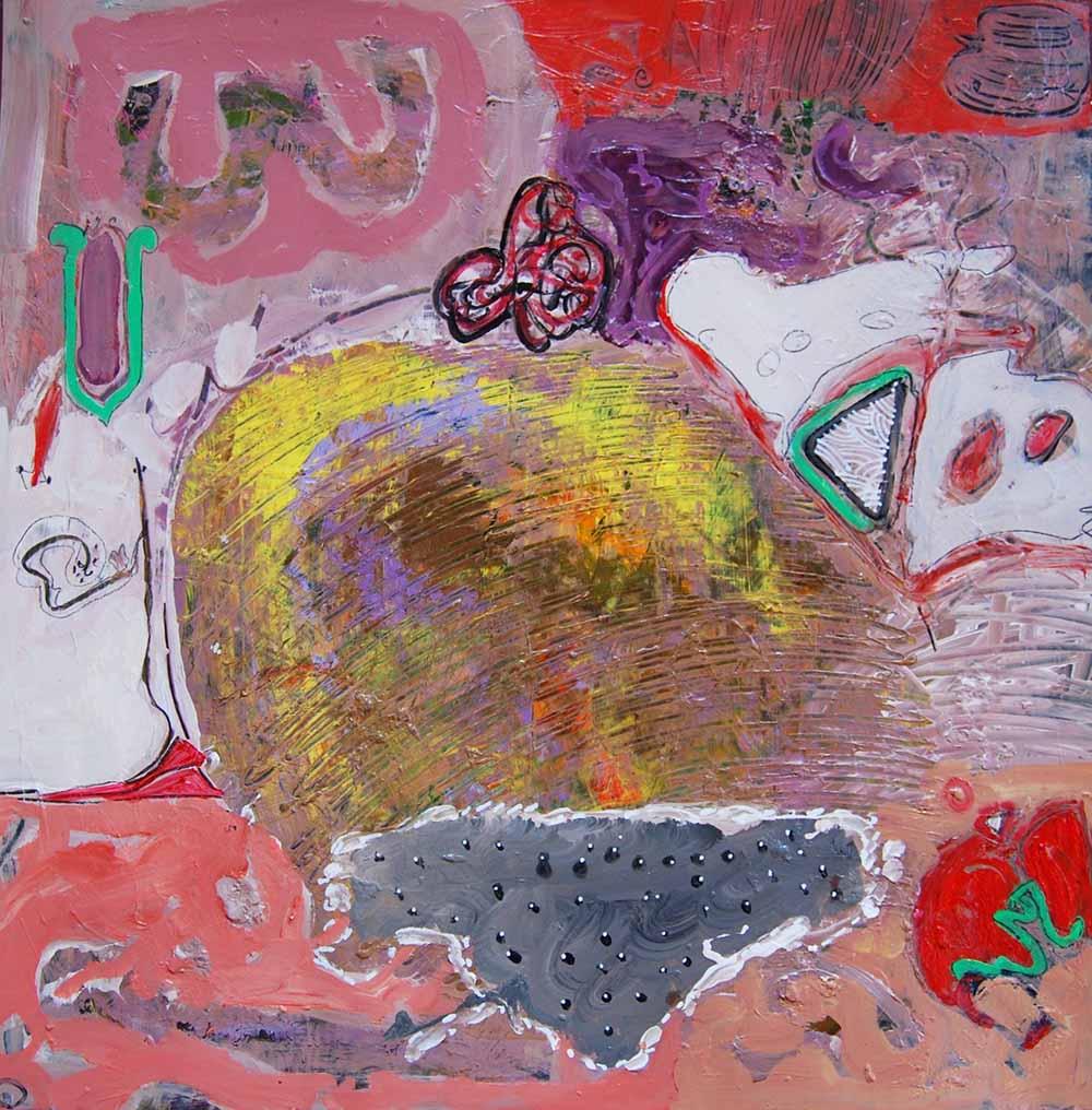 Hussein Salim - Untitled, 72 x 72cm