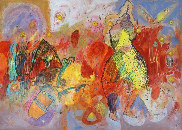 Husein Salim - Untitled 2017 Acrylic on Canson 86 x 61 cm (unframed)