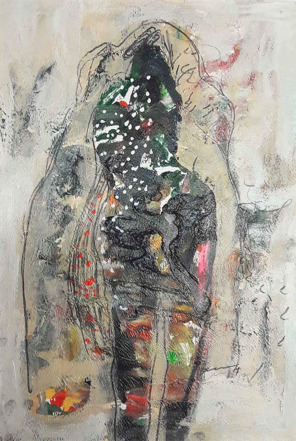 Hussein Salim - untitled(2)(41.5 x 29.5)acrylic on paper