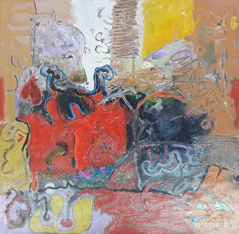Hussein Salim - untitled(7)(72 x 72)acrylic on paper