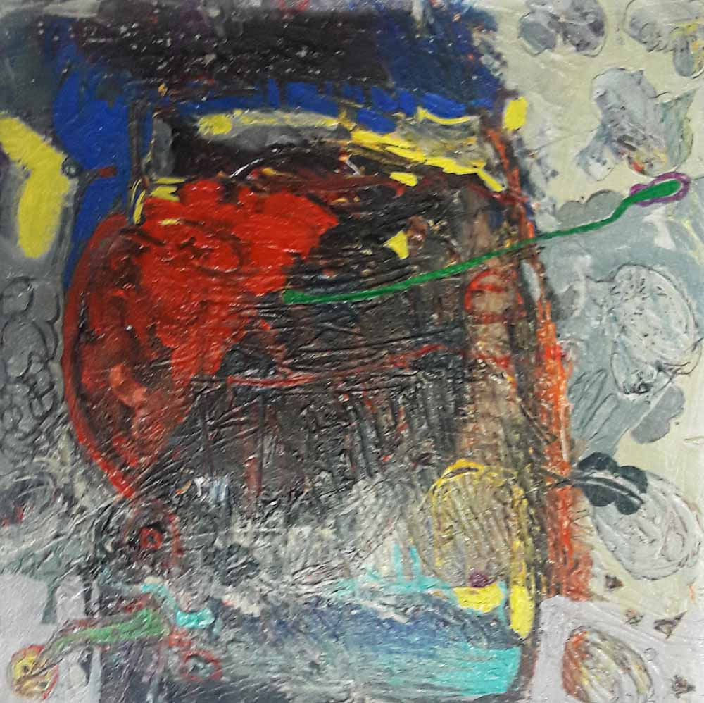 Hussein Salim - untitled(8)(40 x 40)acrylic on canvas