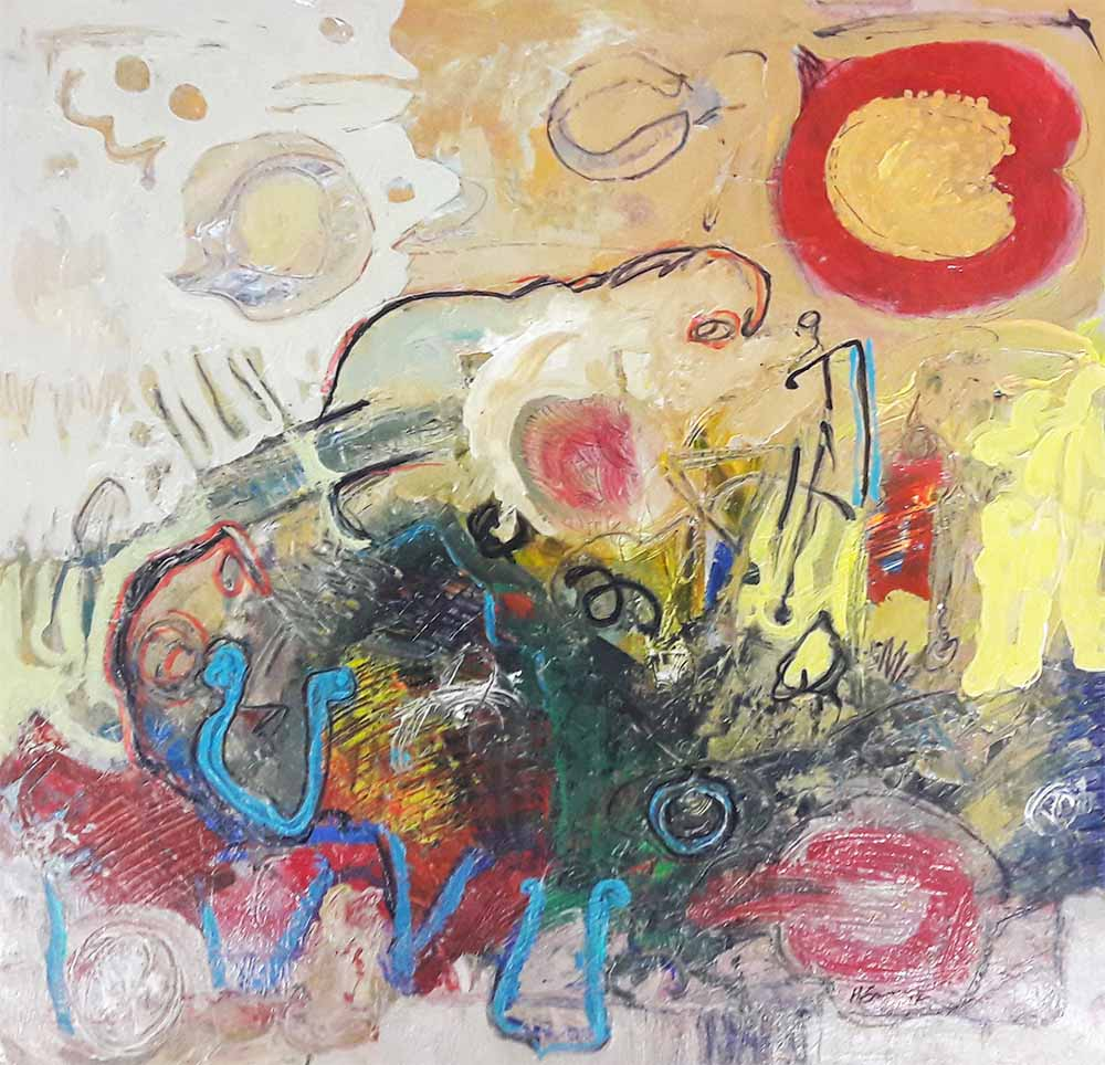 Hussein Salim - untitled(8)(72 x 72)acrylic on paper
