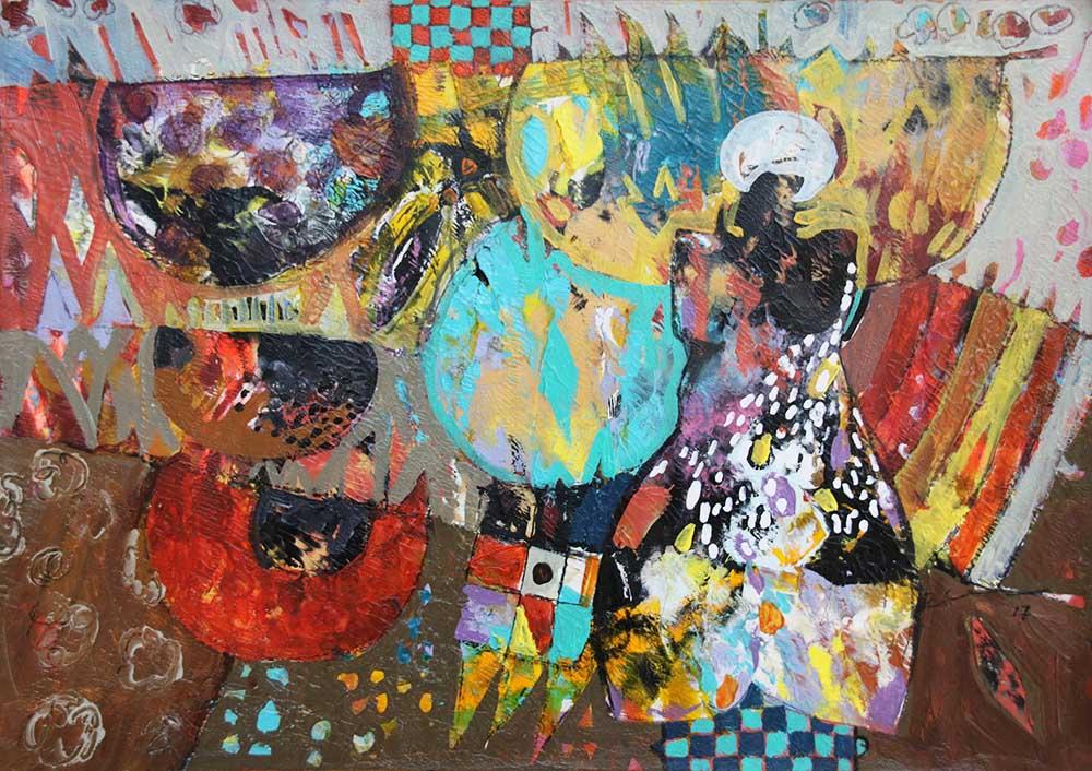 Hussein Salim - Untitled, 43 x 30cm(2)