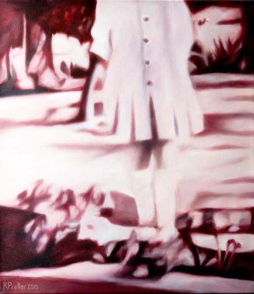 Karin Preller , SA (1960 -) On the Farm, 2015 Oil on canvas 70cm x 60cm x 2.5cm