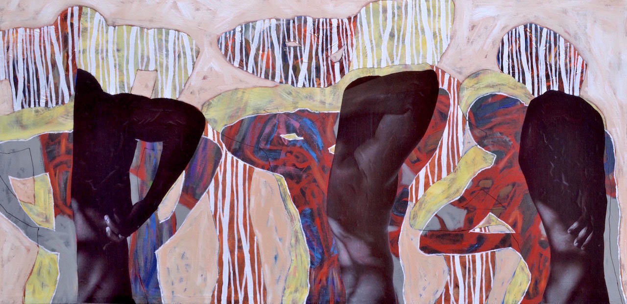 Collin Sekajugo - Self repair - 100cm x 100cm