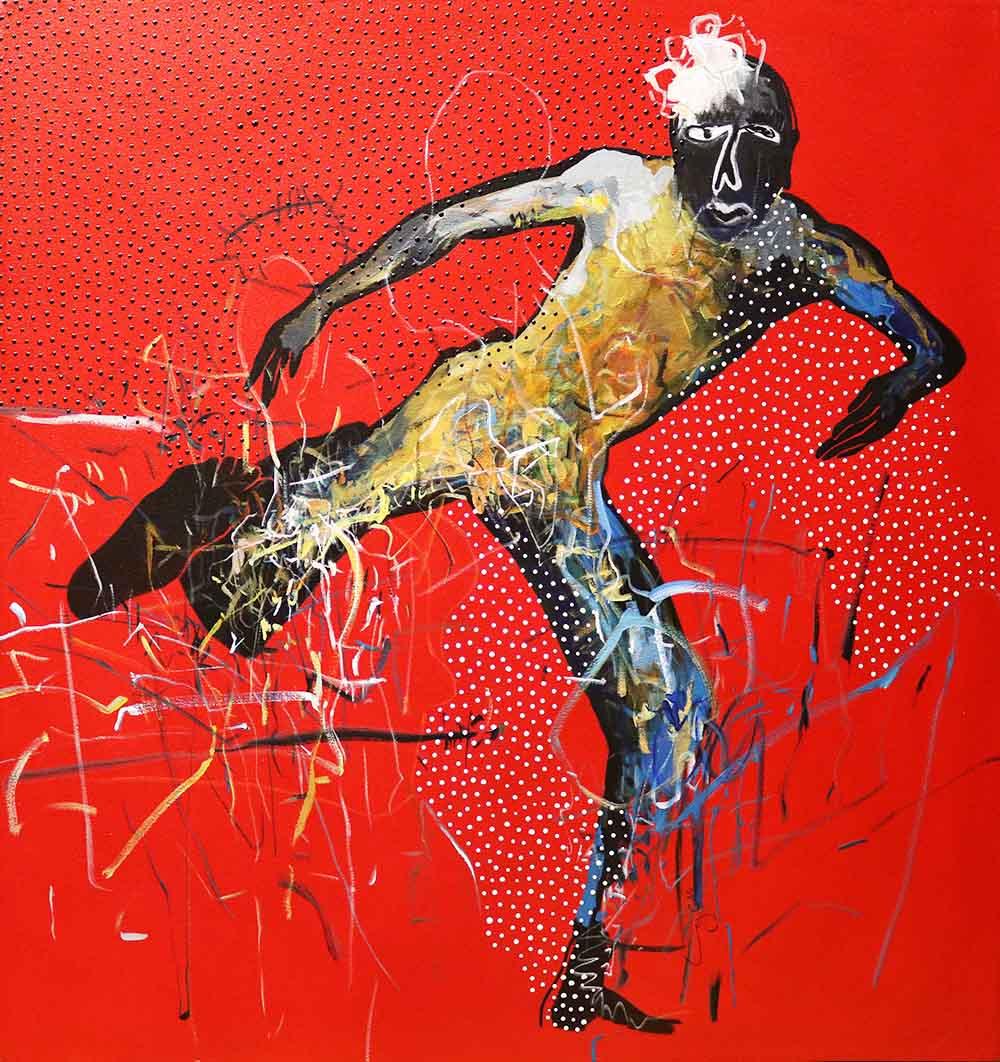 Ley Mboramwe - Congo North - 100 x 100cm