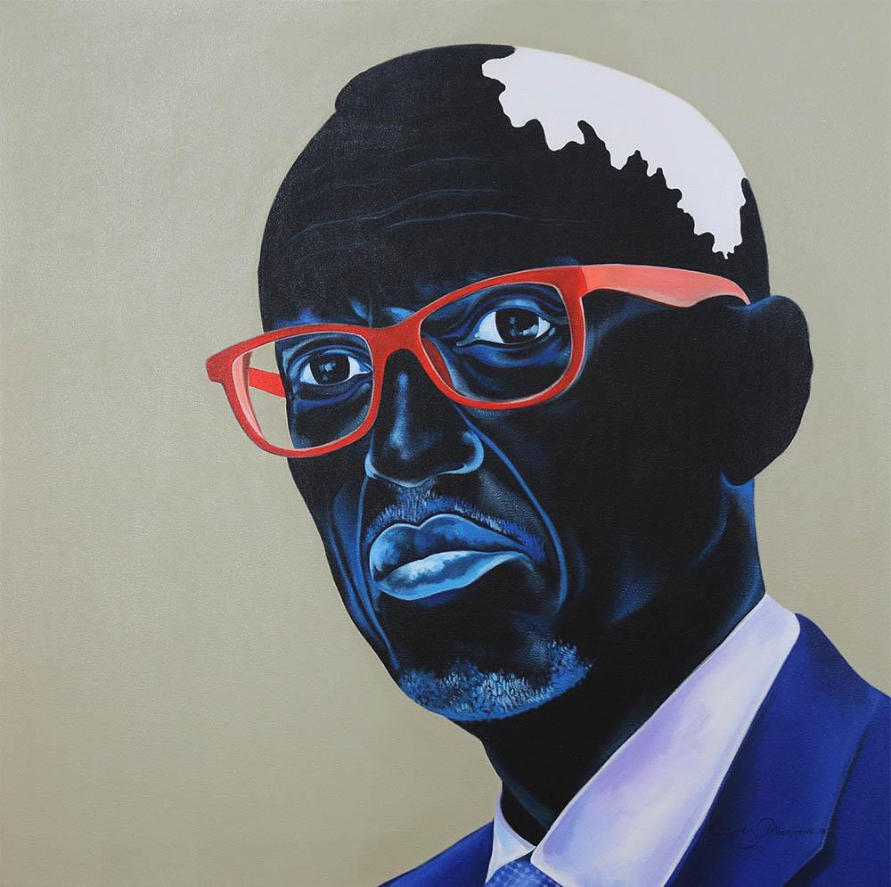Ley Mboramwe - Paul Kagamé Red Glass