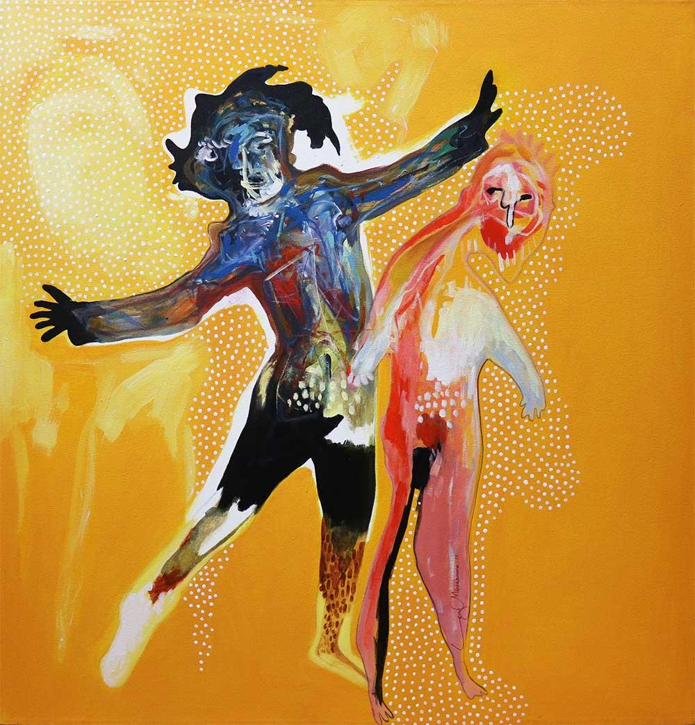 Ley Mboramwe - Untitled - 100 x 100cm