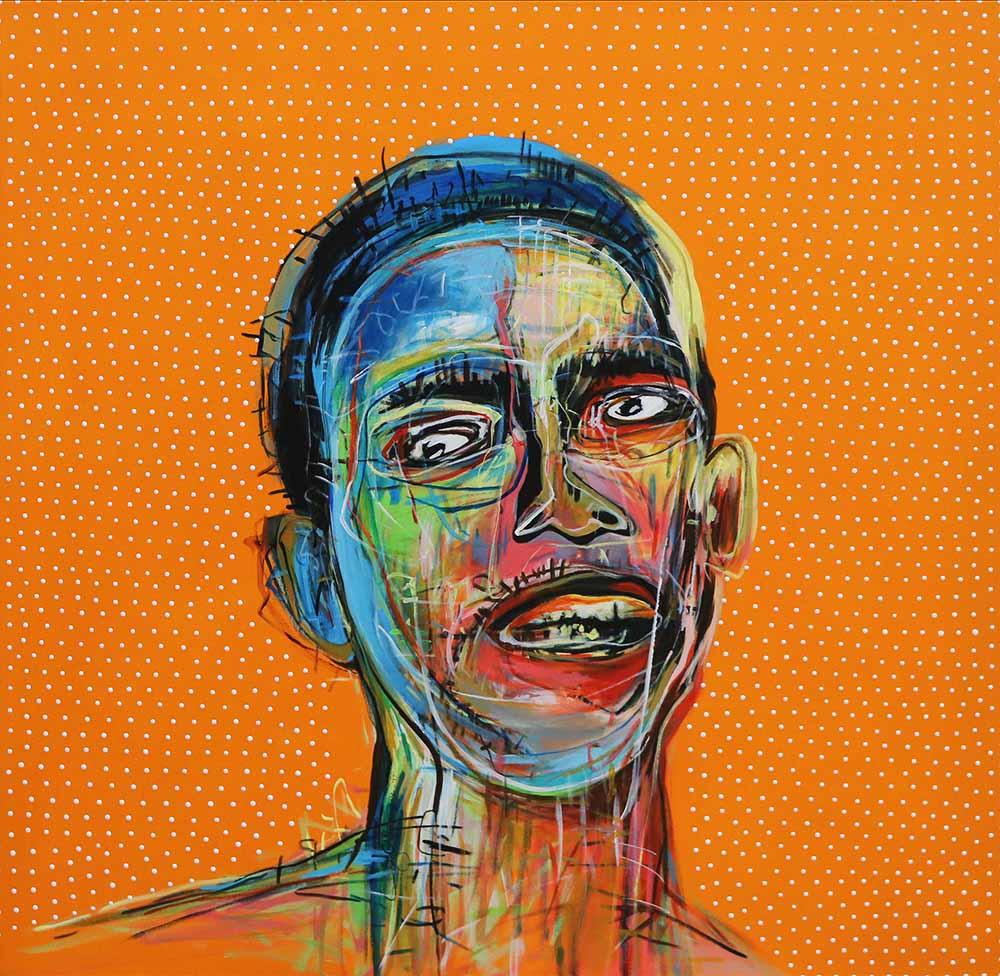 Ley Mboramwe - Self Portrait - 100 x 100 cm