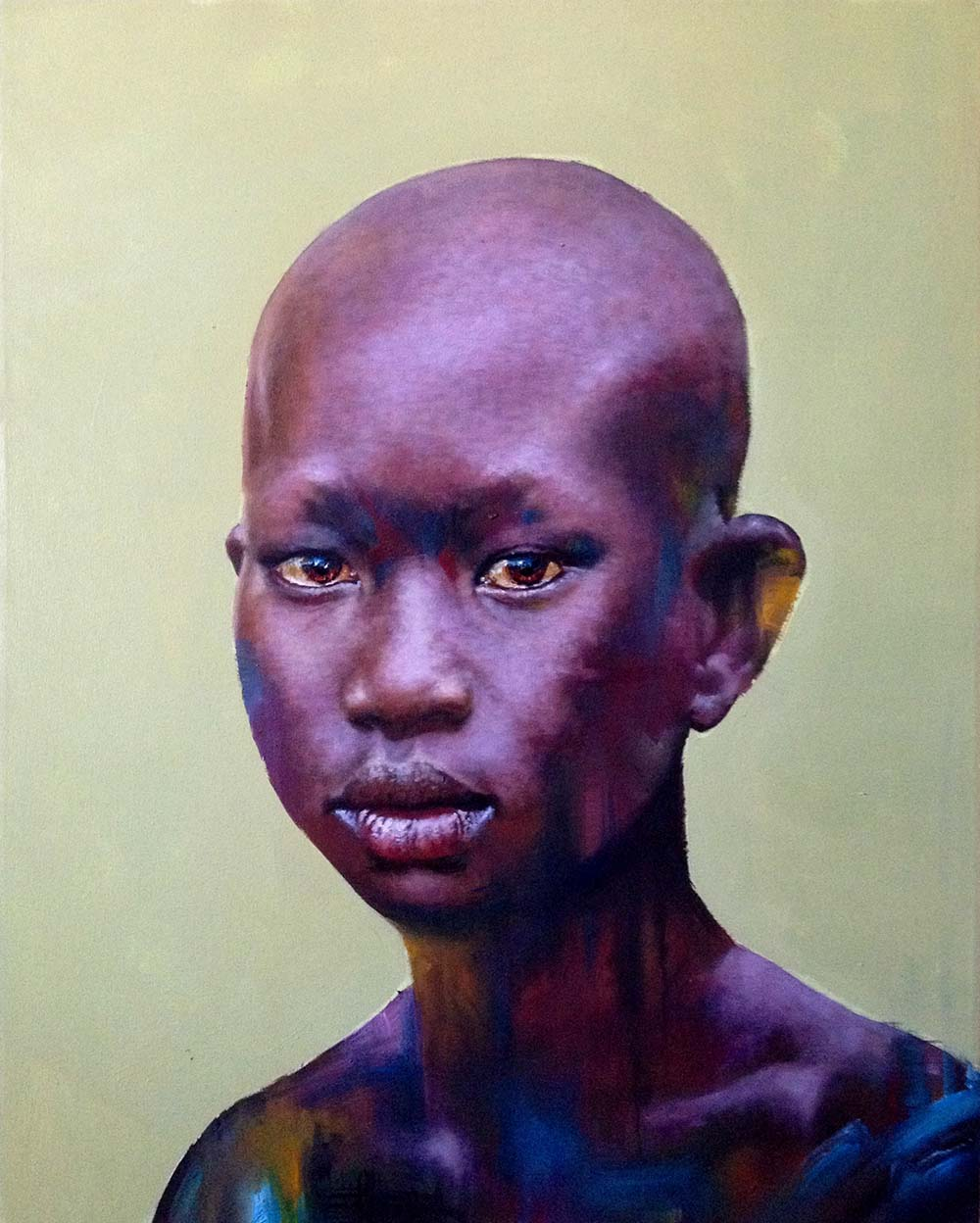 Loyiso Mkize Glow 2018 Oil on canvas 100 x 80 cm