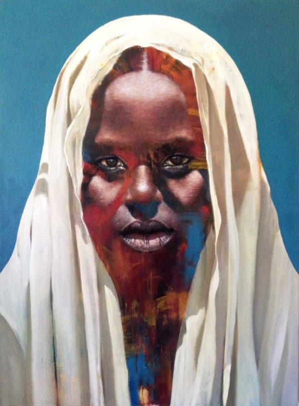 Loyiso Mkize Pray 2018 Oil on canvas 100 x 130 cm