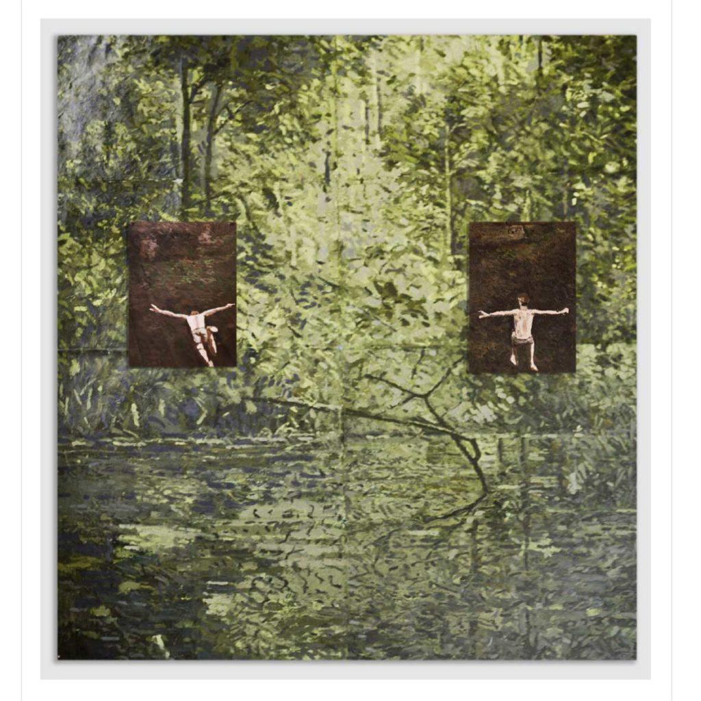 Ben Coutouvidis Limb 2018 oil on card 133 x 123 cm