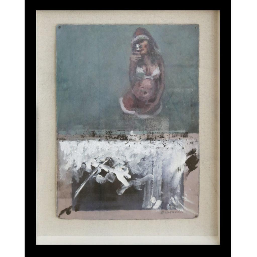 Ben Coutouvidis Santa Claus Selfie 2018 oil on card 54 x 42 cm