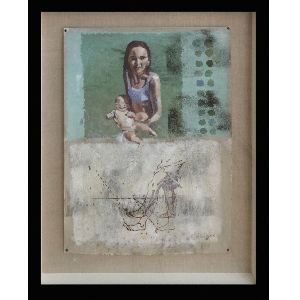 Ben Coutouvidis Untitled 2018 oil on card 54 x 42 cm