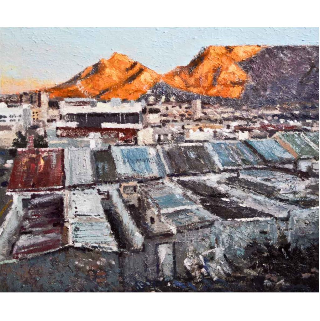 Ben Coutouvidis Vista with good light 2018 oil on canvas 36,5 x 30,5 cm
