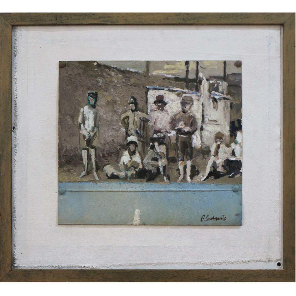 Ben Coutouvidis kids 2018 oil on card 26 x 21 cm