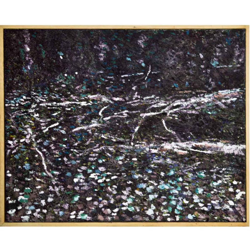 Ben Coutouvidis purple ground 2018 oil on canvas 48 x 60 cm