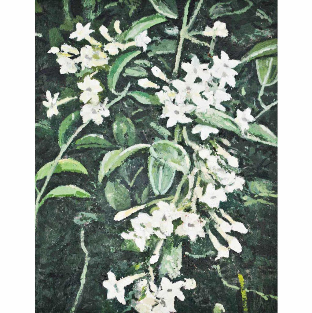 Ben Coutouvidis untitled (jasmine) 2018 oil on canvas 30 x 38 cm