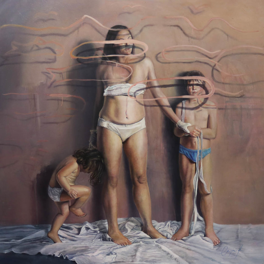 Christa Myburgh Sunday, Monday, Someday and always 2017 Oil on canvas 170 x 170 cm