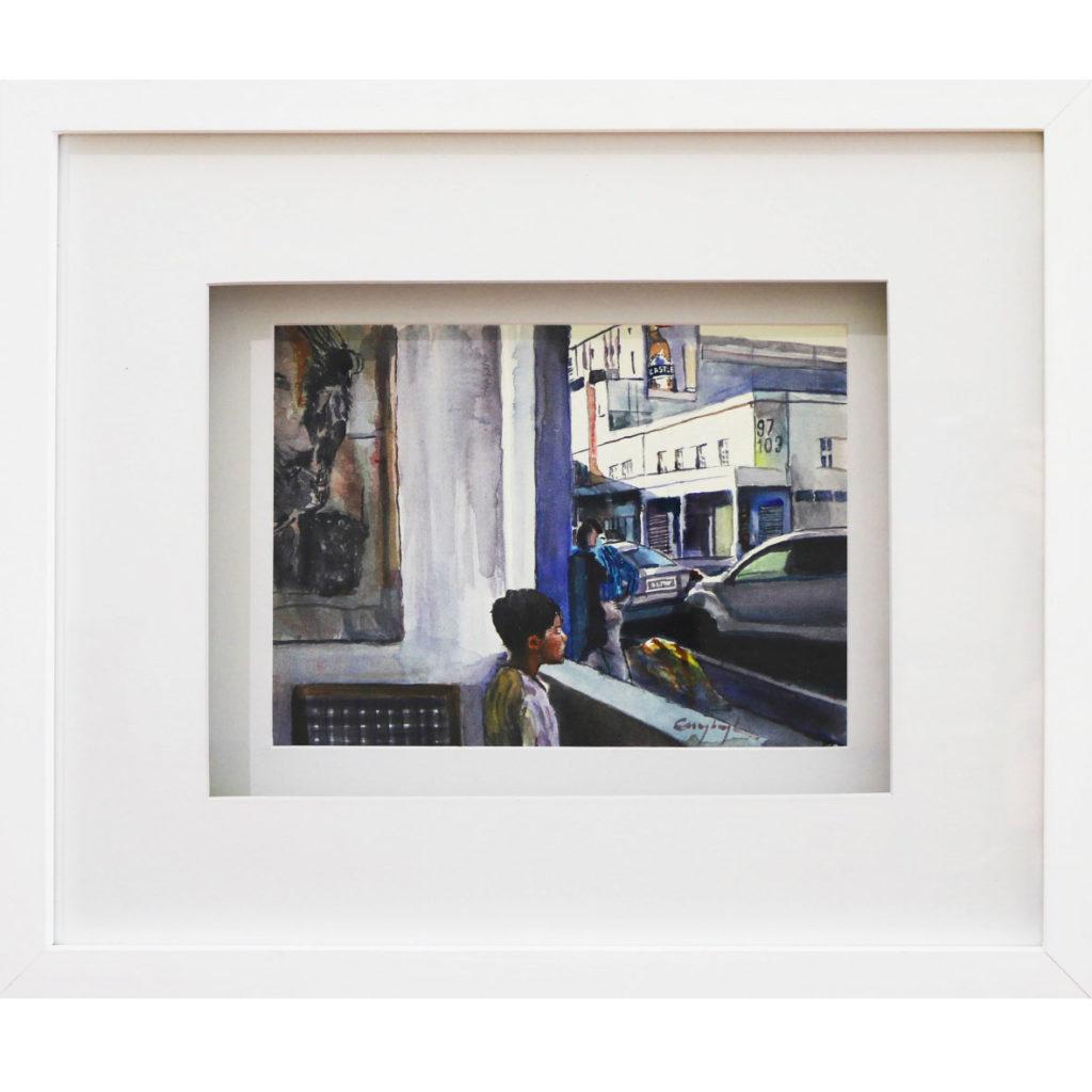 Christa Myburgh - This boy staring, 2018, watercolour, 20 x 27 cm (unframed)