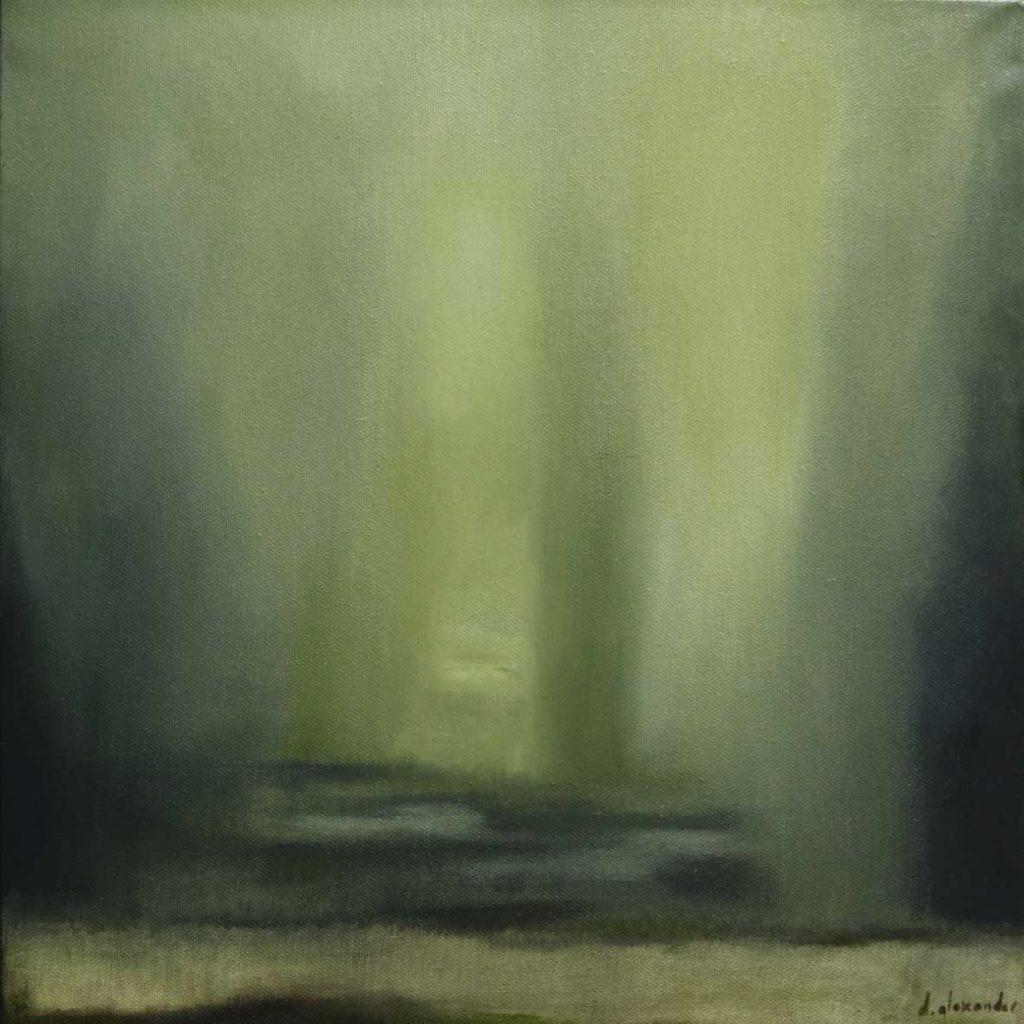 Danielle Zelna Alexander Tempered 2018 oil on canvas 41 x 41 cm