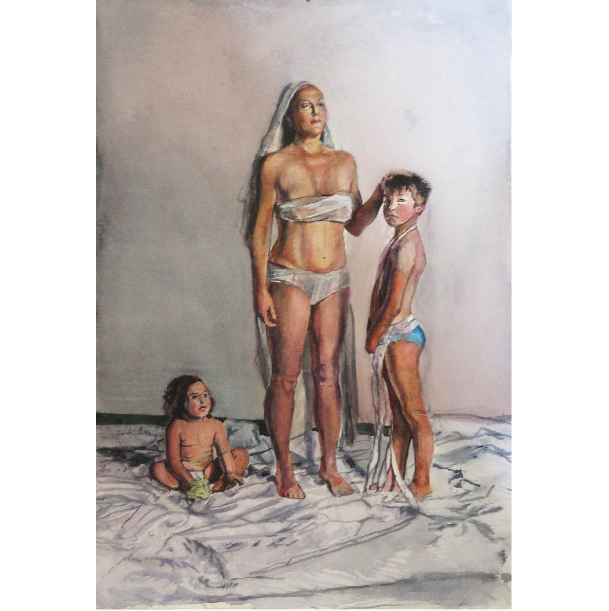 Christa Myburgh Hu(man) 2018 watercolour 41 x 28.5 cm (unframed)