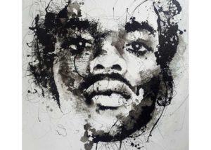 Vincent Osemwegie, mixed media on Canvas, 120 x 150 cm