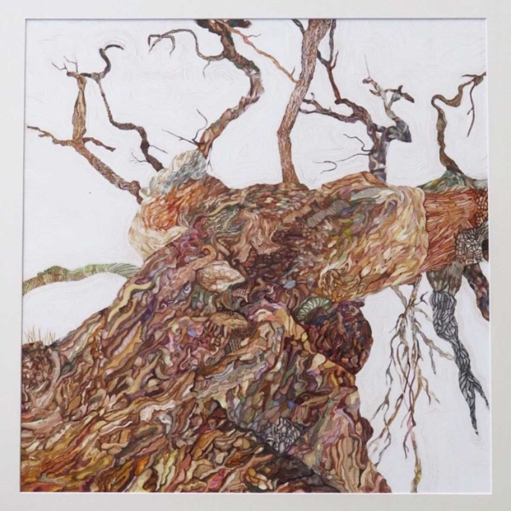 Aimee Lindeque Oak tree Watercolour on paper 81 x 81 cm