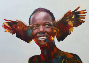 Loyiso Mkize, Liberation, 2018, Oil on Canvas, 200 x 160 cm