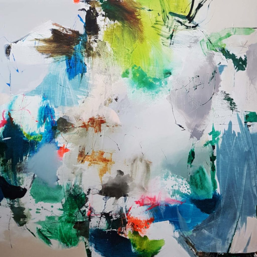 Natasha Barnes Turn a new leaf 130 x 130cm