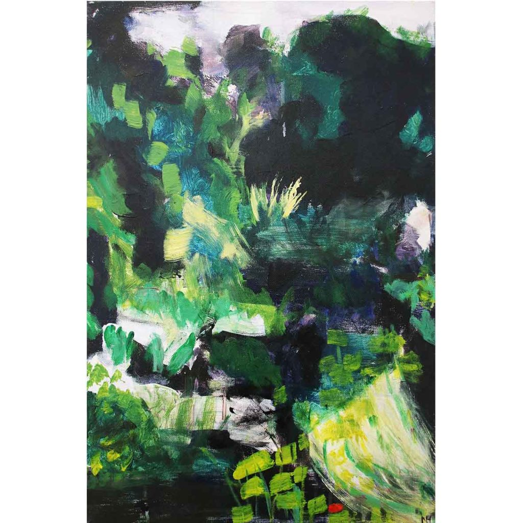 Nina Holmes Landscape 1 2018 Acrylic & Oil on canvas 61 x 45