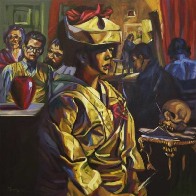 Zolani Siphungela Jo Yoshida 2018 Oil on Canvas 100 x 100 cm