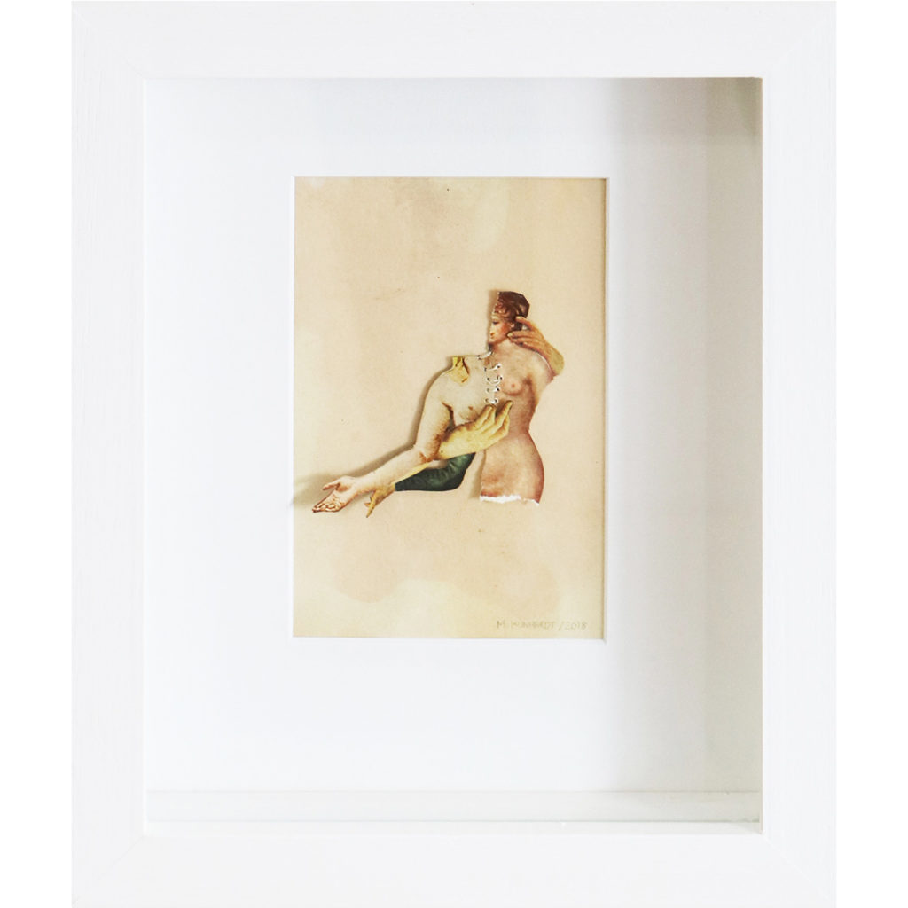 Morgan Kundhardt Rearranging the self 2018 Mixed media 25.5 x 27.5 cm