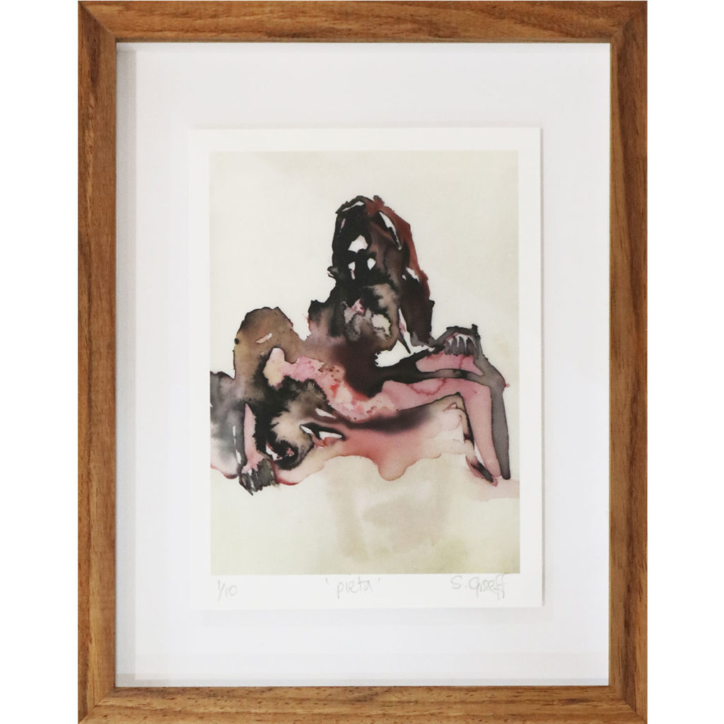 Sue Greeff Pieta 2018 Giclé print on hot press watercolour paper Edition 1 of 10, 20 x 24