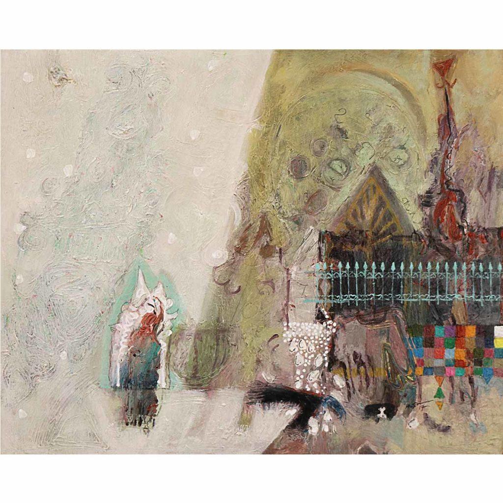Untitled (HS182) 2018 acrylic on canvas 60 x 50 cm