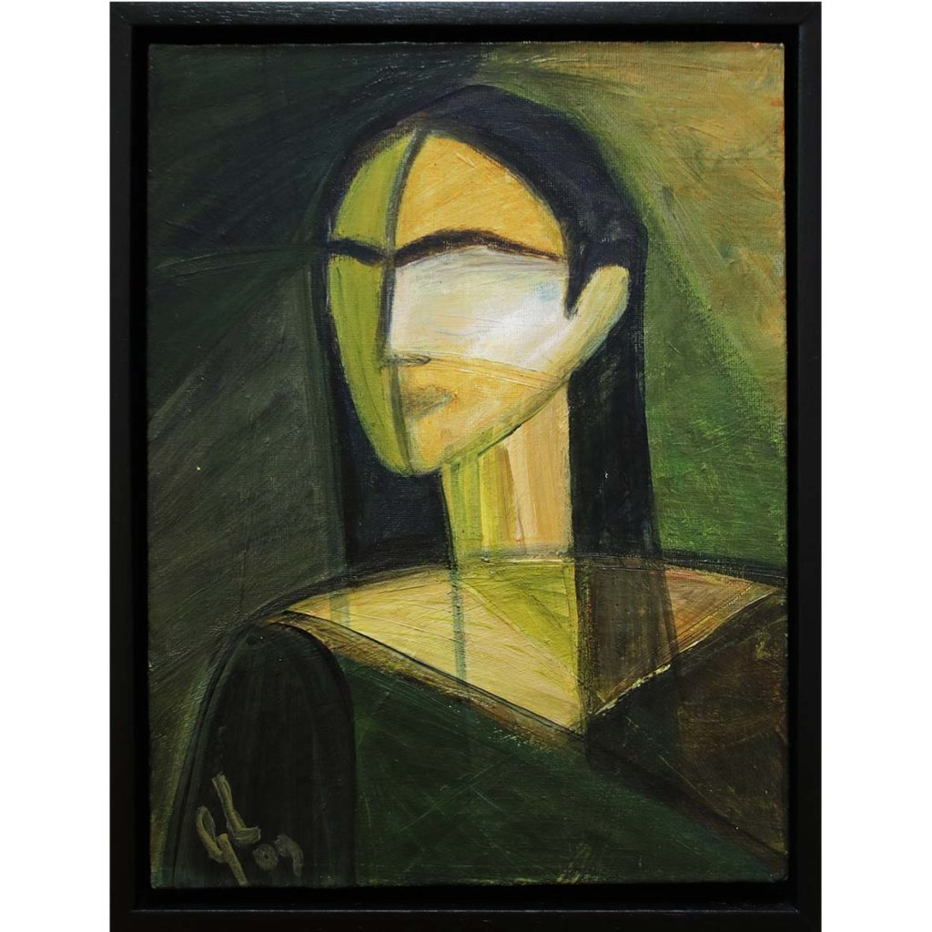 Georgia Lane, Veil, 2009, acrylic on canvas, 25.5 x 33.5 cm