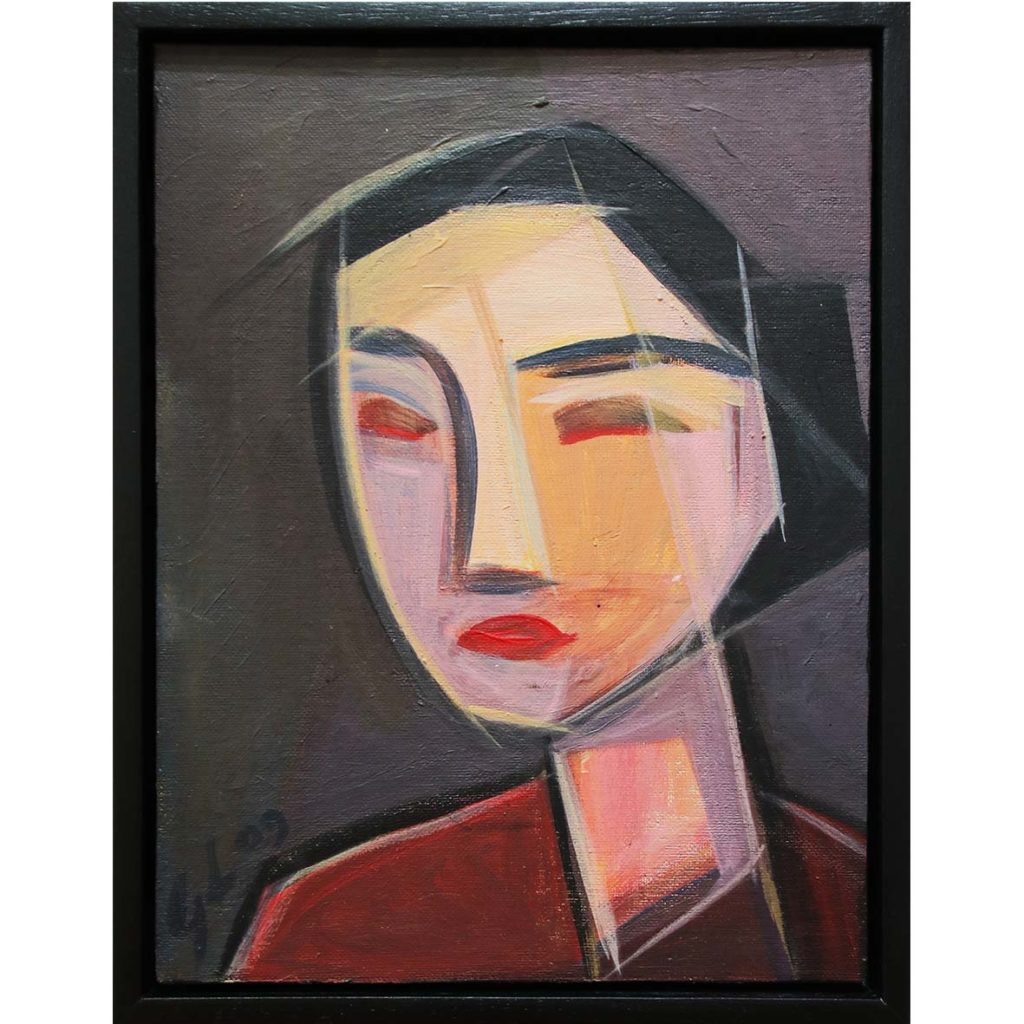 Georgia Lane, Wise Woman, 2009, acrylic on canvas, 25.5 x 33.5 cm