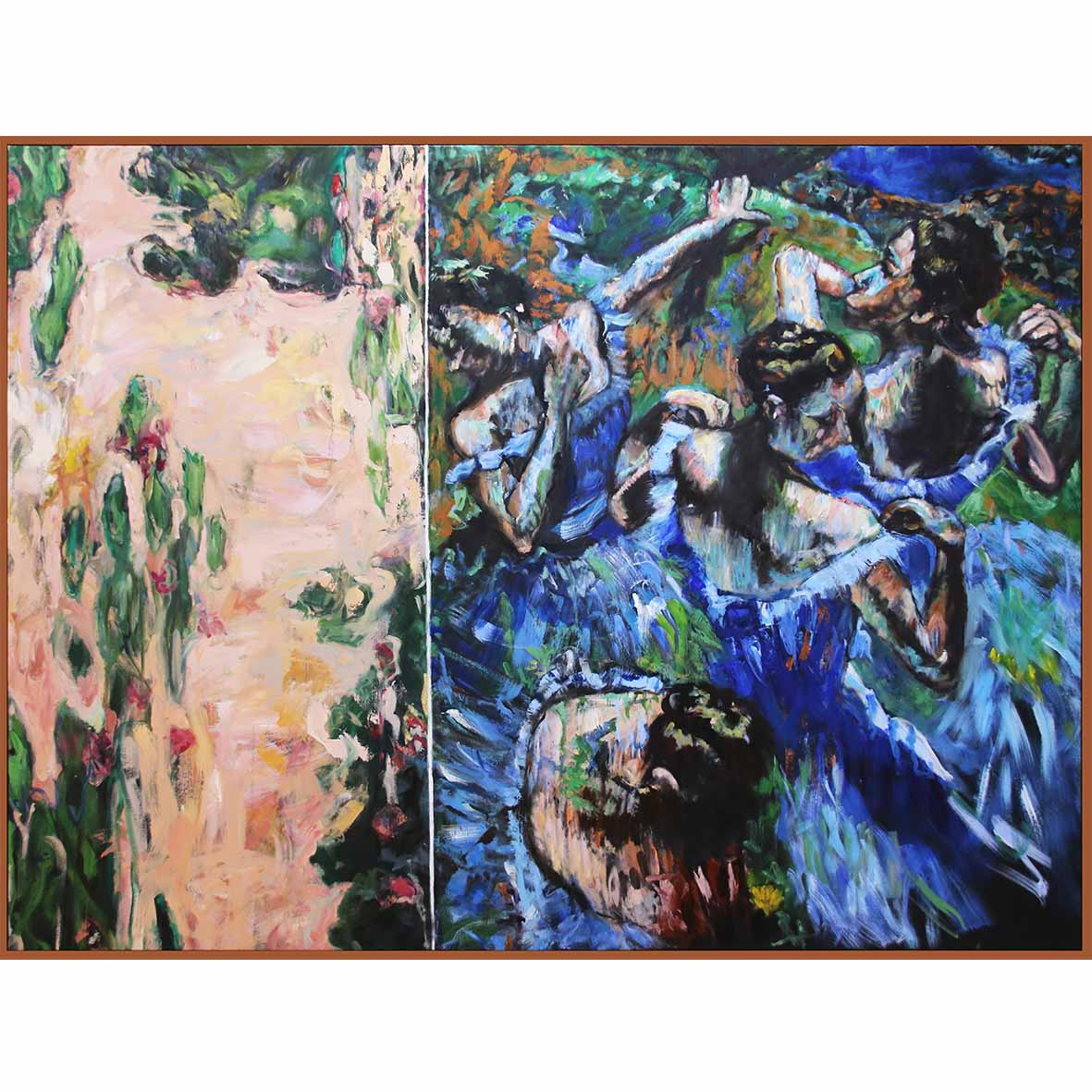 Nina Holmes No Parking 2018 Acrylic & Oil on canvas 179 x 220 cm