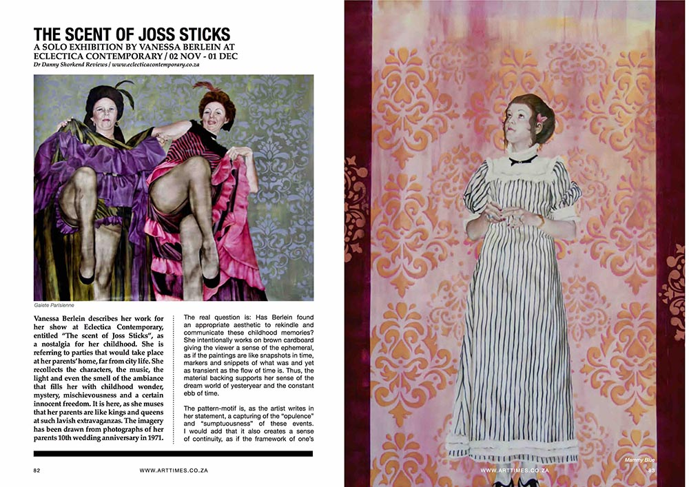 VANESSA BERLEIN, ART TIMES ARTICLE PG 1