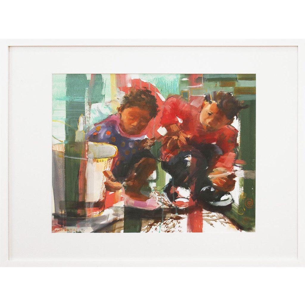 Claudia Treagus Boundless Curiosity 2018 Oil on Paper 86.3 x 67 cm