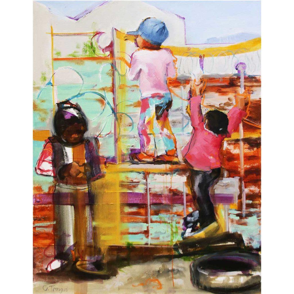 Claudia Treagus Looking Beyond 2018 Oil on Canvas 87.5 x 66 cm