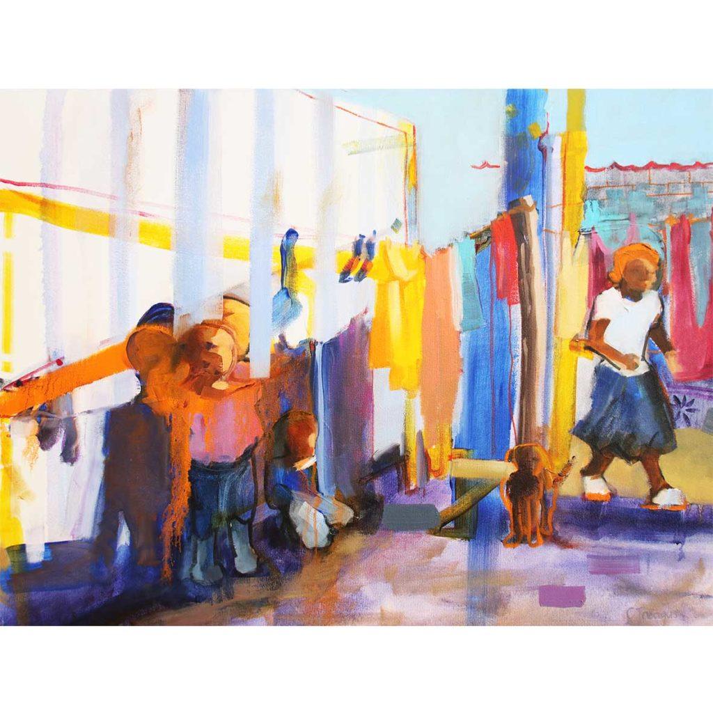 Claudia Treagus Winter Sun Warming 2018 Oil on Canvas 87.5 x 66 cm